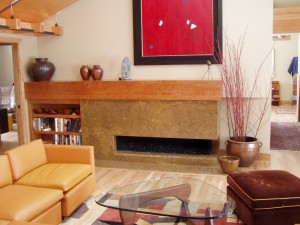Gas Fireplace with No Glass