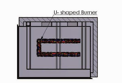 acucraft provided custom u shaped burner drawing
