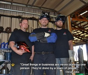 Acucraft manufacturing team