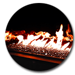 gas fireplace accessories reflective panels
