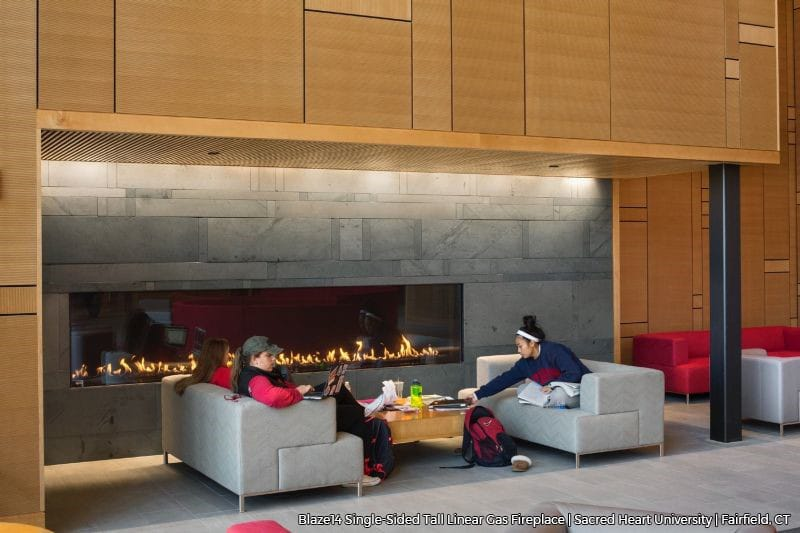 Blaze14 14 Foot Wide and 30 Inches Tall Linear Gas Fireplace at University