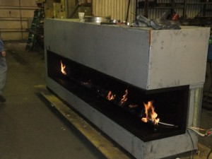 Custom Linear Gas Fireplace in Production