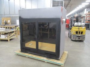 single sided wood burning fireplace in manufacturing