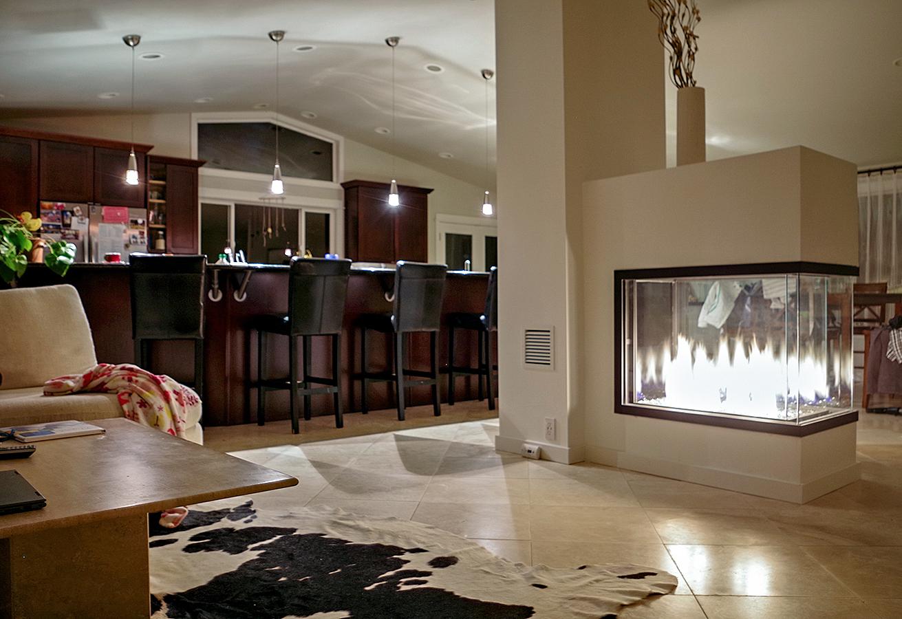 Acucraft Certified Custom Three-Foot Peninsula Gas Fireplace