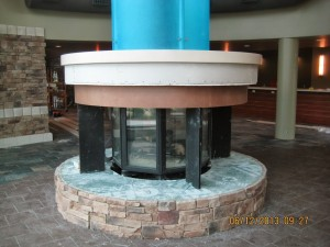 Installation of Custom 8-Sided Gas Fireplace