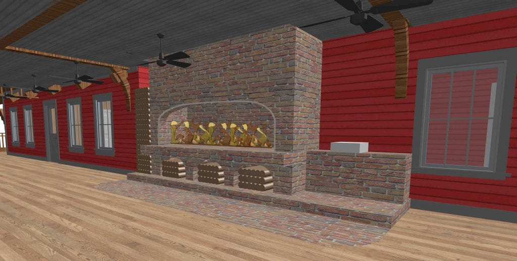 Custom Wood Fireplace Designed for Cooking at Restaurant by Acucraft