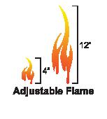 Blaze 6 gas fireplace adjustable flame