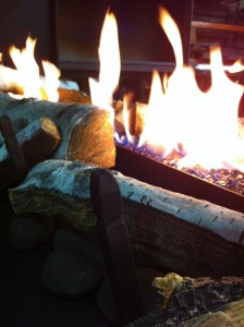 Wood Burning Fire Close-Up