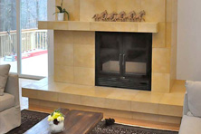 acucraft great room decorative wood burning fireplace