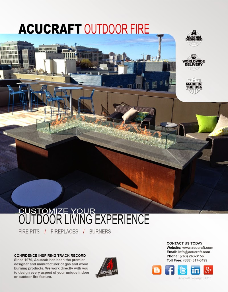 Outdoor Fire Brochure by Acucraft