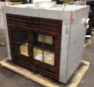 See-Through Fireplace with Rectangle Doors