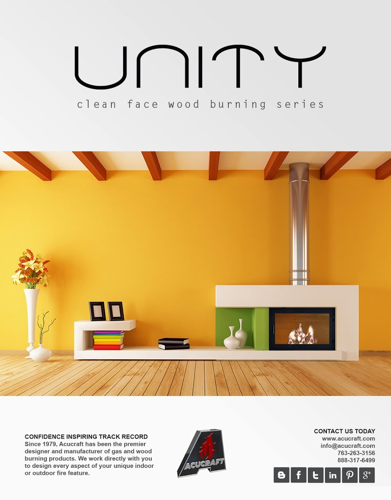 Unity Clean Face Wood Fireplace by Acucraft