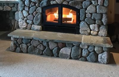 high tech efficient wood burning fireplace