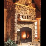 single sided wood fireplace masonry fireplace with stone surround