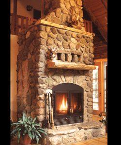 single sided wood fireplace masonry fireplace with stone surround