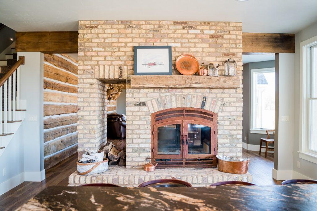 double sided wood burning fireplaces