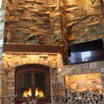 single sided wood burning fireplace