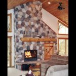 high tech masonry wood burning fireplace
