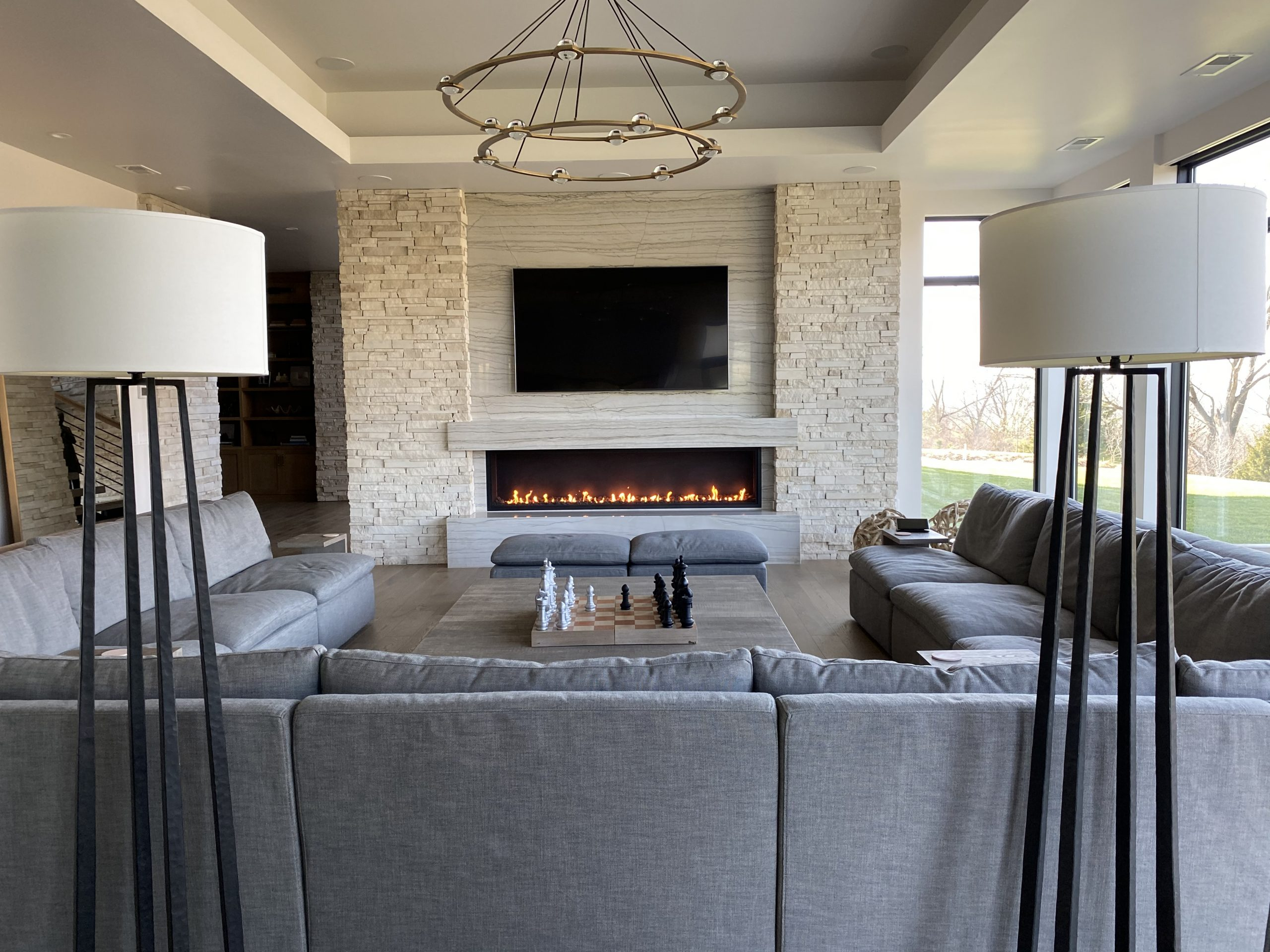 Acucraft Signature 8' Linear Open Gas Fireplace with Lava Rock (5)