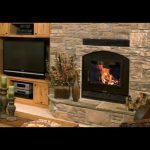 single sided high tech wood burning fireplace