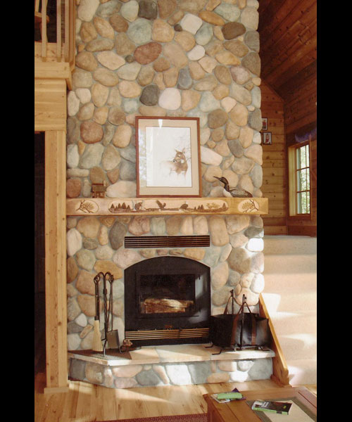 high tech wood burning fireplace