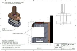 oval semi circular gas fireplace drawing