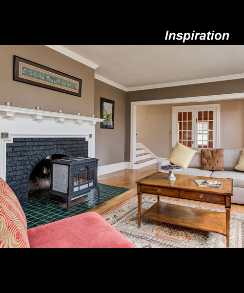 inspiration photo of a wood burning fireplace