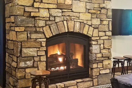 acucraft hearthroom wood fireplace with gas logset