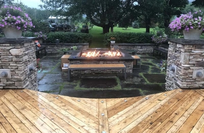 sunken garden fire table