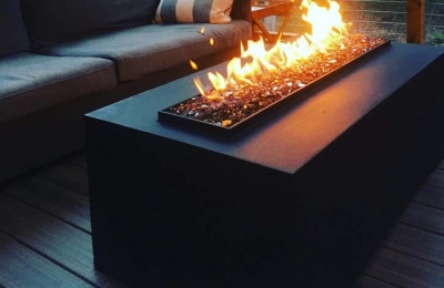 outdoor gas fire table