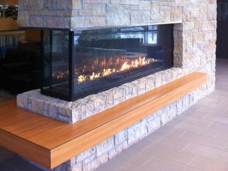 Peninsula Three Sided Gas Fireplaces | Acucraft Fireplaces