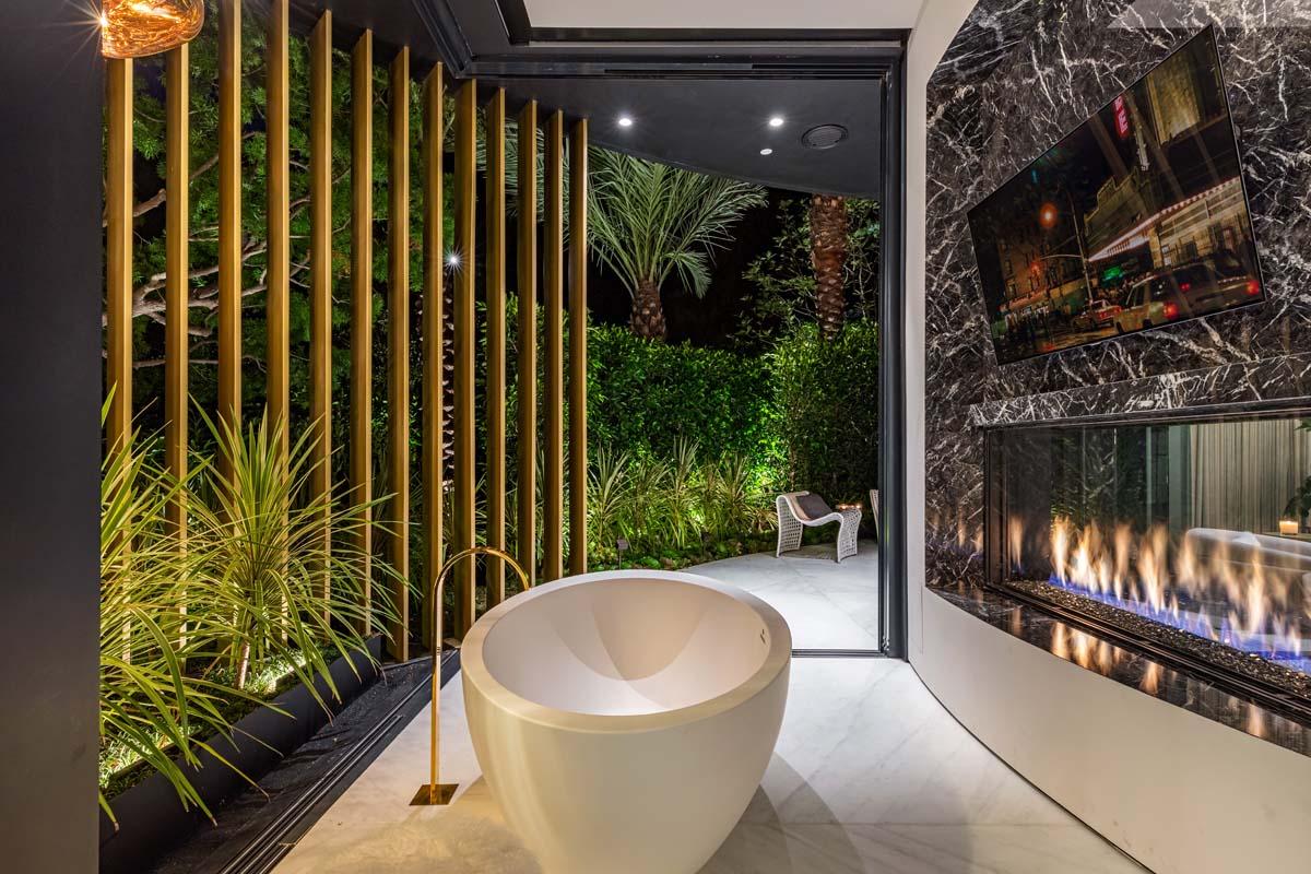 gallery-see-through-custom-gas-fireplace-residential-bathroom-california