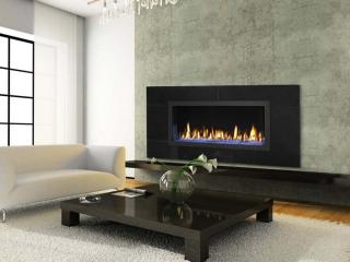 6' linear gas fireplace