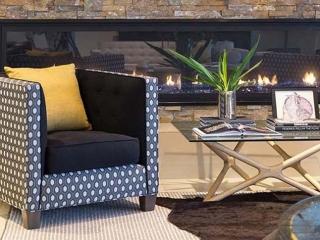 single sided linear gas fireplace
