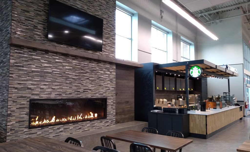 hyvee maple grove linear gas fireplace