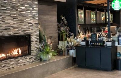 blaze single-sided gas fireplace