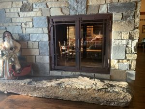 double sided wood fireplace accessories and options
