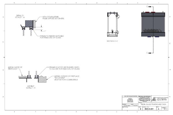 acucraft four sided gas fireplace drawing oceana hotel