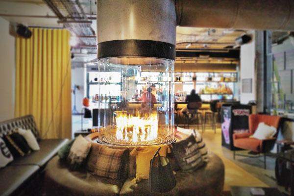 circular direct vent gas fireplace