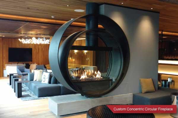 unique custom gas fireplace