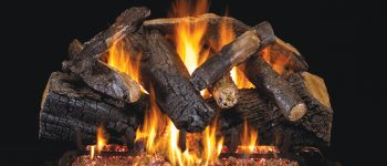 Charred Majestic Oak Gas Logset