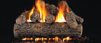 Golden Oak Designer Plus Gas Logset