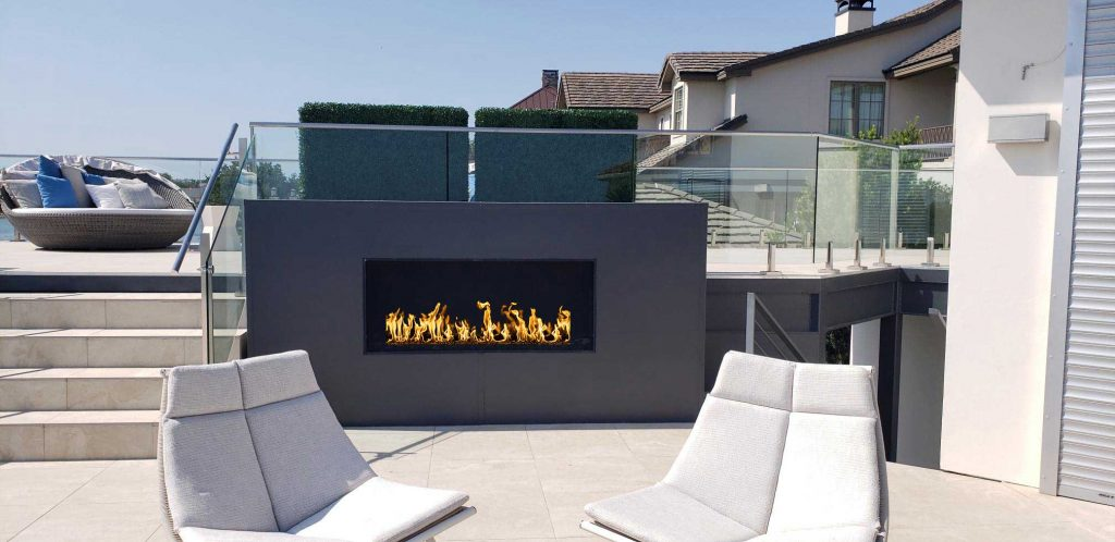 rooftop outdoor gas fireplace
