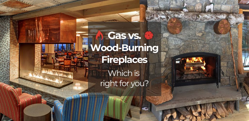 gas and wood fireplaces
