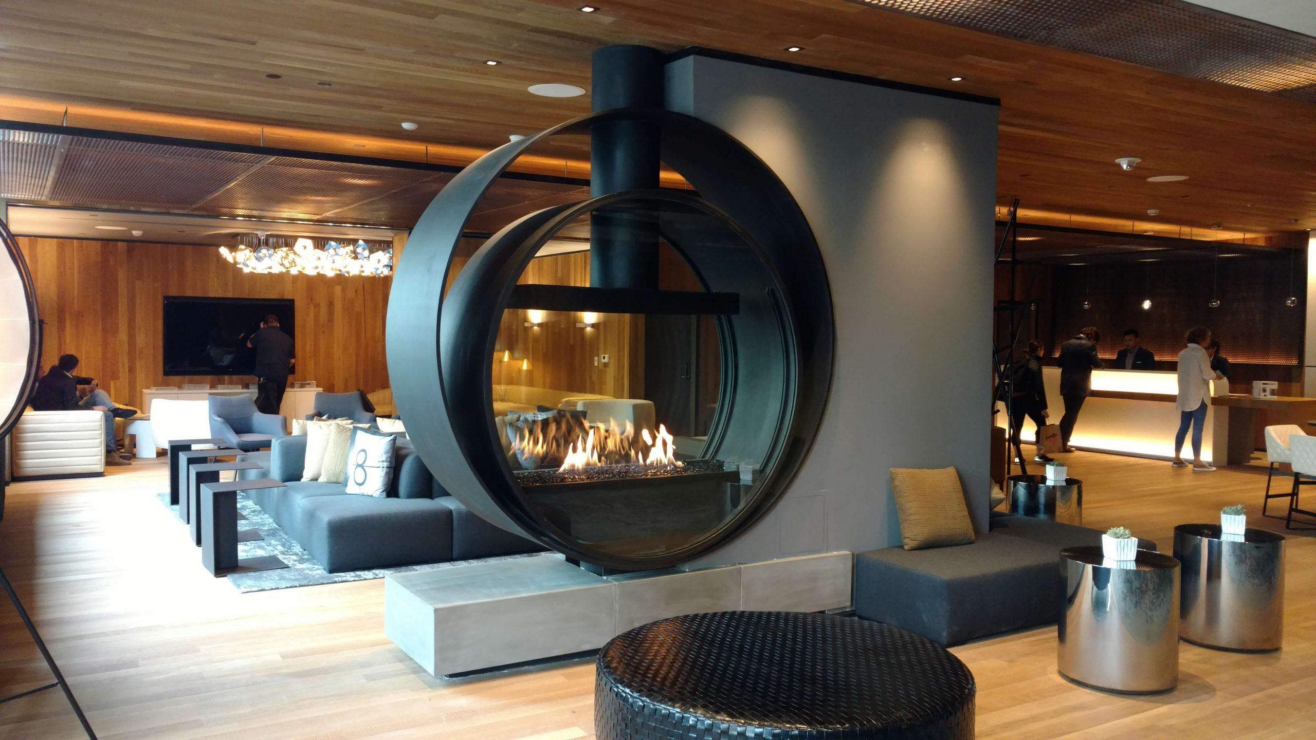 Acucraft Custom Gas Circular Fireplace