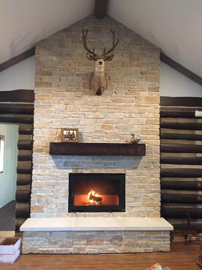 gallery unity 36 single sided rectangular fireplace in a residential home