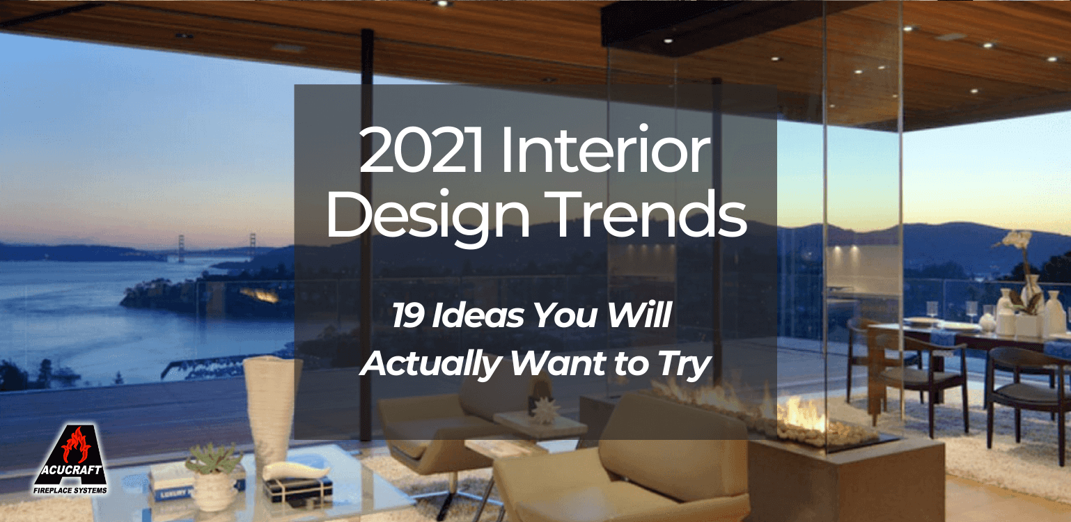 Beautiful home interior with glass windows over looking the water -Interior Design Trends 2021