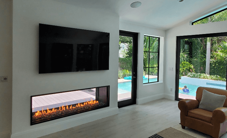 Image of a gas fireplace