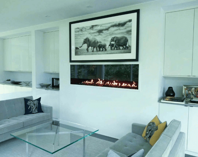 Modern home interior decorated with elements of global influence