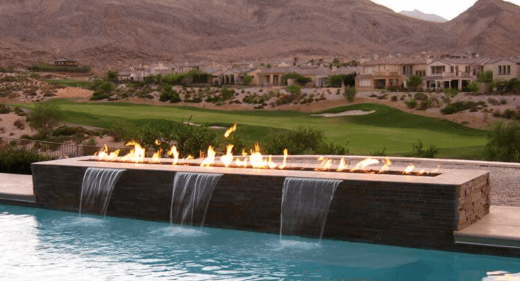 Outdoor fire and water feature
